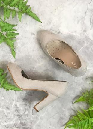 Аккуратные туфли на устойчивом каблуке  sh1910090  papaya