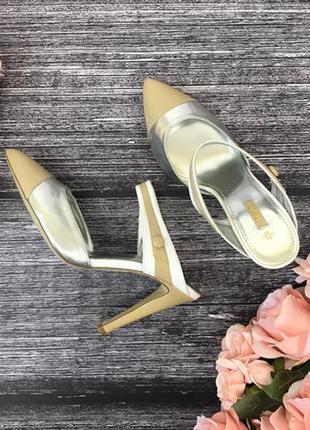 Стильные туфли с серебристыми элементами и острым носком  sh181936  next