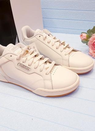 Adidas roguera -  женские кожаные кеды - 38