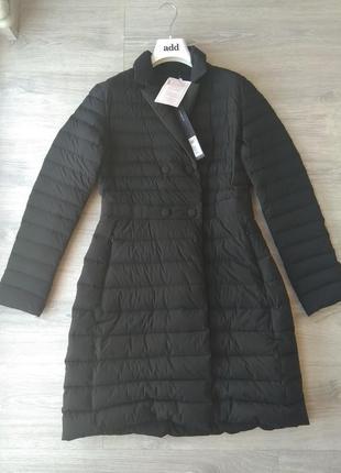 Новое пальто на пуху add оригинал 100% пух пуховик курка италия чёрный 46-48 премиум адд