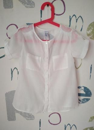 Блуза zara котон девочка 6 лет (118см.) как новая