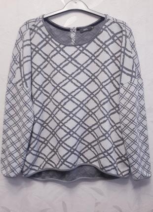 Мягкий, уютный брендовый свитшот, 54-56-58, тонкий стрейчевый трикотаж, хлопок, cecil
