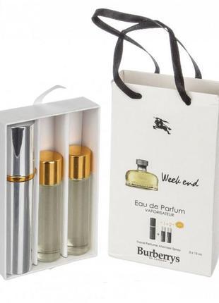 Набор парфюм с феромонами burberry weekend woman 45 мл