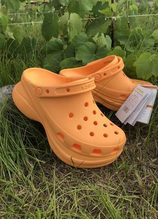 Крокс crocs women's classic bae clog женские кроксы оранжевые сабо