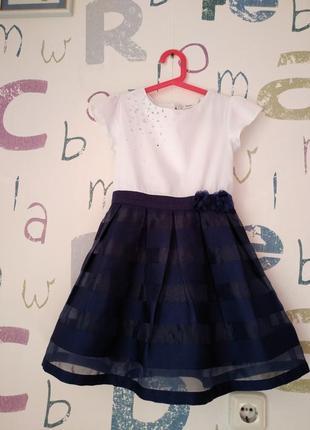 Платье blukids котон девочка 7-8 лет (122-128см) в идеале