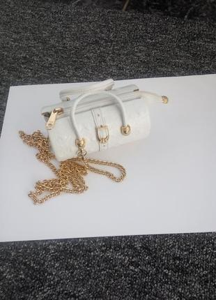 Мини сумка из кожи каймана, walter genuin white ostrich golf mini bag, италия, оригинал.