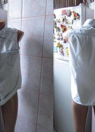 Очень классная рубашка , легкая джинсовая на лето.