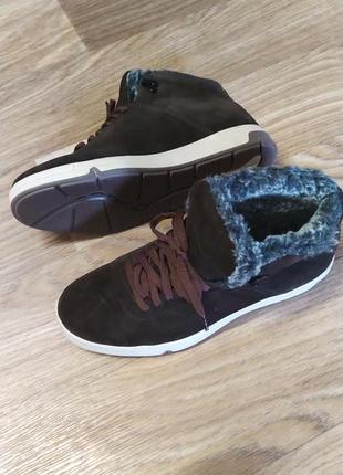 Замшевые теплые ботинки 42 р