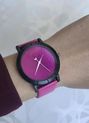 Женские блестящие розовые наручные часы звездное небо