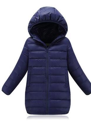 Berni kids куртка удлиненная весенняя детская, синий