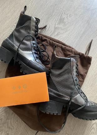 Louis vuitton оригинал !кожанные ботинки