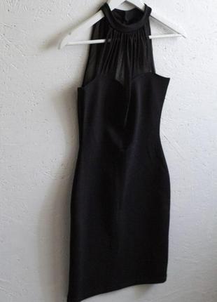 Черное коротенькое вечернее платье!