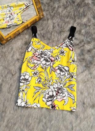 Блуза кофточка в цветах на широких бретелях morgan