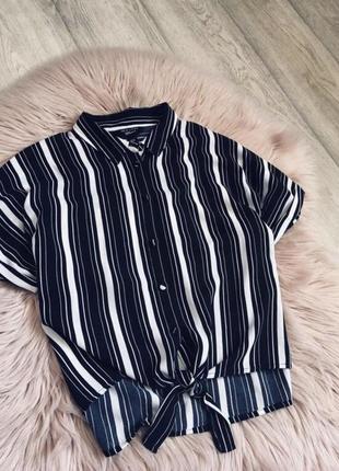 Блуза рубашка в полоску