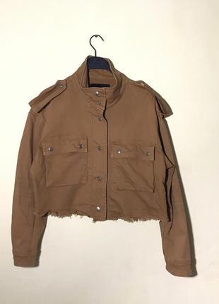 Джинсовая куртка stradivarius джинсовка