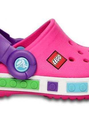 Детские кроксы lego pink