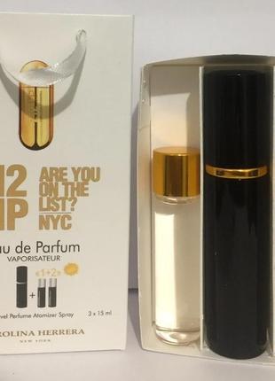 Набор парфюм с феромонами carolina herrera 212 vip woman 45 мл
