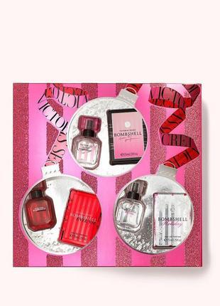 Подарочный набор из 3 парфюмов линейки bombshell victoria's secret