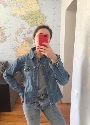 Джинсовка женский пиджак голубой джинсовая курточка papaya
