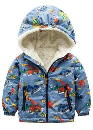 Meanbear куртка для мальчика трактор