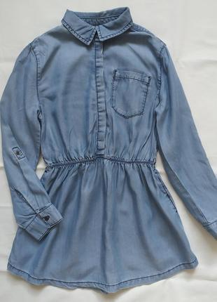Джинсовое платье туника c&a ( 134 см )