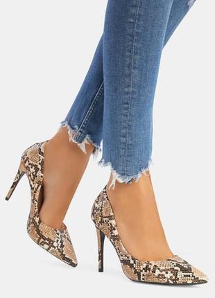 Кожанные туфли h&m