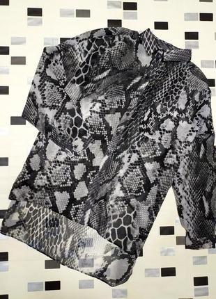 Блуза змеиный принт