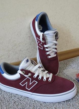 Кеды new balance numeric 255 burgundy/royal на 26 см