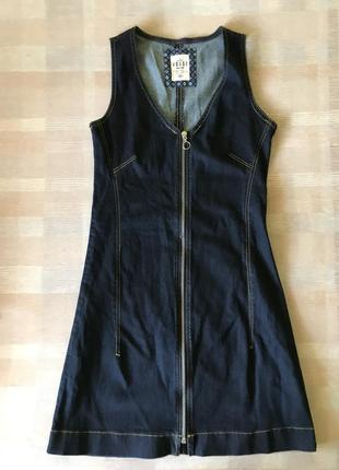 Джинсовое платье на замочке