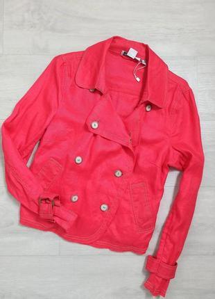 Красный лляной пиджак