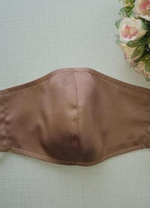 Женская маска ,коричневая маска для лица с ткани многоразового использования
