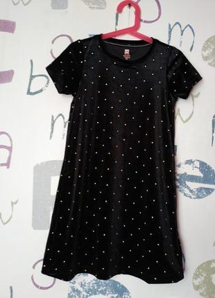 Платье hema велюровое девочка 7-8 лет(122-128см) как новое