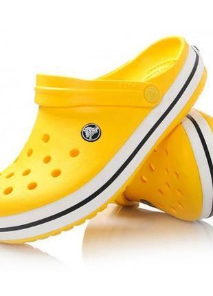 Кроксы crocband yellow