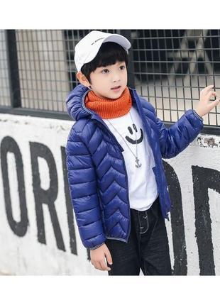 Berni kids куртка демисезонная детская зигзаг, синий