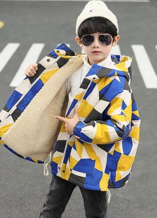 Berni kids куртка-парка демисезонная для мальчика трапеция
