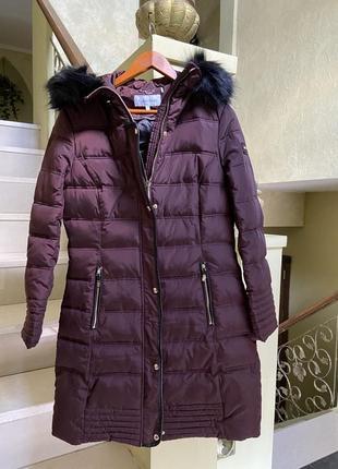 Женское теплое пальто парка пуховик кельвин кляйн calvin klein; оригинал;м
