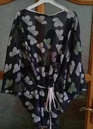 Шифоновая блуза летучая мышь дороти перкинс с этикеткой