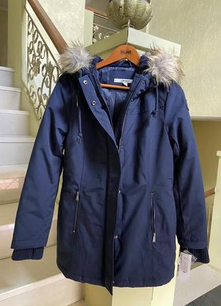 Женская теплая брендовая парка куртка dkny donna karan; s, оригинал