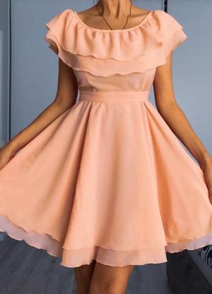 Платье нарядное новое вечернее короткое летнее размер s xs сарафан