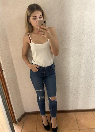 Супер крутые стильные рваные джинсы / джинсы с дырками от new look