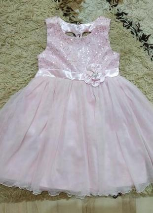 Очень нарядное пышное платье на 3-4 года (можно меньше)