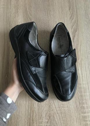 Waldlaufer 40-41 р кожа туфли кроссовки туфлі кросівки ботинки