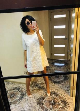 Красиве плаття натуральне розмір л трапеція ціна 339 грн