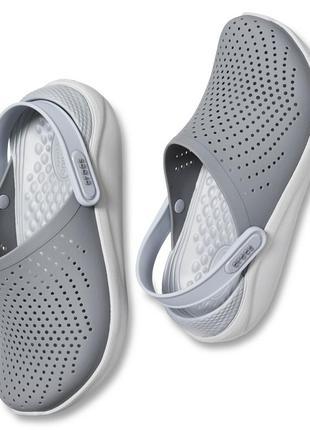 Серые мужские/женские кроксы literide clog grey
