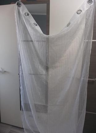 Скидка! красивая мерцающая тюль штора 1 шт