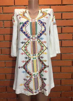 Туника , блузка, вышиванка  topshop ( kate moss) 44-46 р.