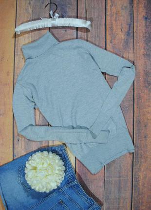 Базовая меланжевая водолазка f&f размер s/m/l серый гольф свитер джемпер