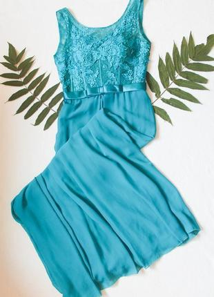 1+1=3 🌿 вечернее платье бирюза, размер м