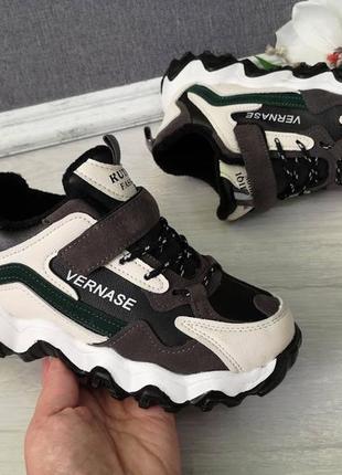 Осень 2020.кожаные  утепленные кроссовки для мальчика.р.32-37