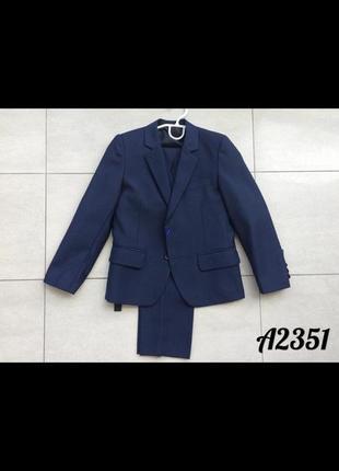 Школьный костюм тройка для мальчиков, синий р.146-152!